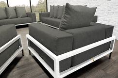 Tilly Patio 4 Piece Sofa Set With Cushions Accent Pillow Fabric: Dark Oyster, Fabric: Dark Oyster