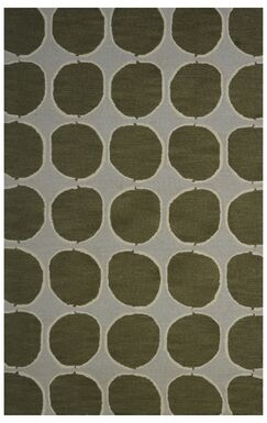Wool Hand-Tufted Green/Gray Area Rug Rug Size: 5' x 8'
