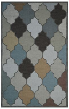 Wool Hand-Tufted Ivory/Beige Area Rug Rug Size: 5' x 8'