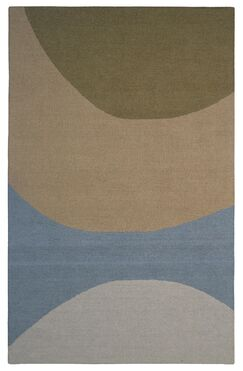 Wool Hand-Tufted Green/Blue Area Rug Rug Size: 6' x 6'