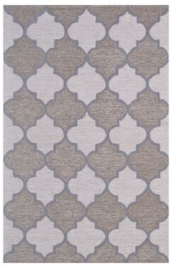Wool Hand-Tufted Ivory/Brown Area Rug Rug Size: 6' x 6'