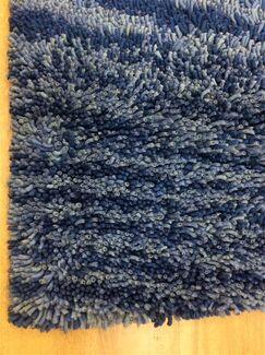 Shag Eyeball Woolen Hand Knotted Blue Multi Mix Area Rug Rug Size: Rectangle 5' x 8'