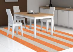 Burnell Hand-Woven Wool Orange/Silver Area Rug Rug Size: Rectangle 6' x 9'