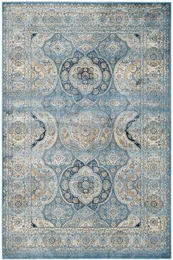 Mays Light Blue/Ivory Area Rug Rug Size: Rectangle 6'7