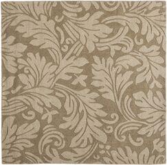 Palmwood Modern Brown/Gray Area Rug Rug Size: Square 6'