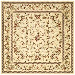 Taufner Ivory Area Rug Rug Size: Square 10'
