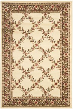 Taufner Ivory/Brown Checked Area Rug Rug Size: Rectangle 3'3