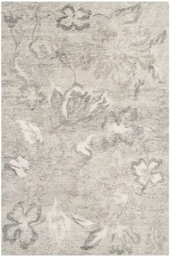 Brightling Hand-Knotted Natural/Silver Area Rug Rug Size: Rectangle 8' x 10'