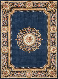 Laurel Hand-Tufted Blue/Gold Area Rug Rug Size: Rectangle 3'6