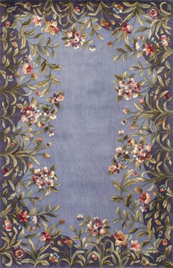 Veronique Lavender/Green Garden Area Rug Rug Size: Rectangle 8' x 11'