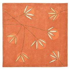 Felton Hand-Tufted Rust Area Rug Rug Size: Square 8'