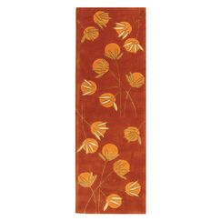 Felton Hand-Tufted Rust Area Rug Rug Size: Rectangle 2'6