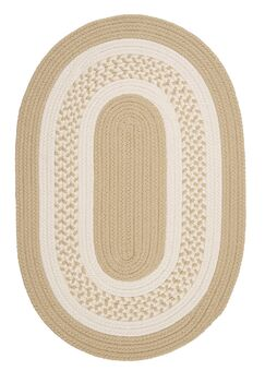 Rockport Neutral Linen Indoor/Outdoor Rug Rug Size: Oval Runner 2' x 8'
