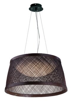 Carlisle 1-Light Cone Pendant Color: Chocolate