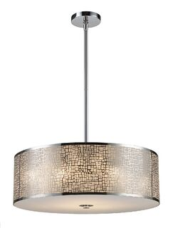 Pyla 5-Light Drum Chandelier Finish: Polished Stainless Steel