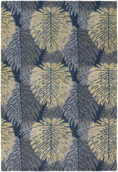 Bingham Designer Blue/Ivory Area Rug Rug Size: Rectangle 2' x 3'