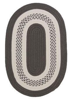 Rockport Gray Indoor/Outdoor Rug Rug Size: Oval Runner 2' x 12'