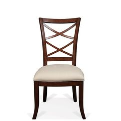 Alfred Bay Xx-Back Upholstered Seat Dining Chair (Set of 2)