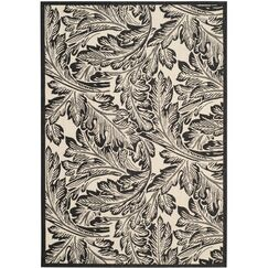 Alberty Sand/Black Outdoor Area Rug Rug Size: Rectangle 2' x 3'7