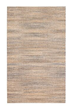 Lynn Haven Hand-Woven Tan/Ivory/Blue Area Rug Rug Size: 4' x 6'
