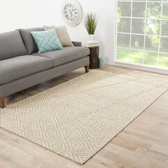 Raposa Hand-Woven Brown/White Area Rug Rug Size: Rectangle 5' x 8'