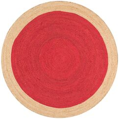 Knox Hand-Woven Red Area Rug Rug Size: Round 6'