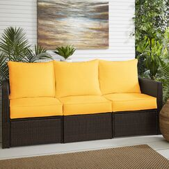 Indoor/Outdoor Sunbrella Sofa Cushion Fabric: Canvas Sunflower Yellow