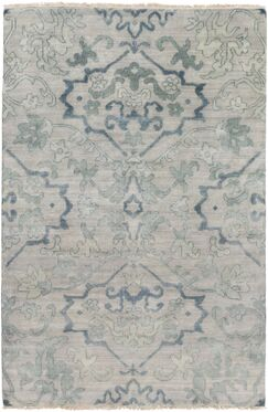 San Michele Hand-Knotted Gray Area Rug Rug Size: Rectangle 2' x 3'
