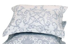 Savoy Jacquard Sham Color: Denim Blue, Size: Euro