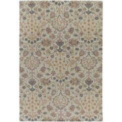 Alden Hand-Tufted Light Gray Area Rug Rug Size: Rectangle 9' x 13'
