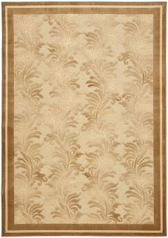 Plume Tufted-Hand-Loomed Beige/Brown Area Rug Rug Size: Rectangle 7'10