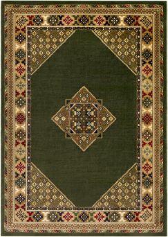 Batchelder Green/Beige Area Rug Rug Size: Rectangle 8' x 10'
