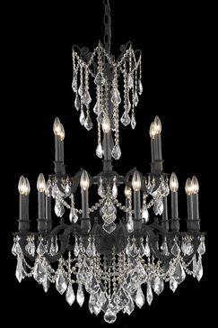Utica 18-Light Candle Style Chandelier Crystal Grade: Royal Cut, Color: Dark Bronze