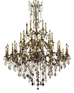 Utica 45-Light Candle Style Chandelier Color / Crystal Color / Crystal Trim: French Gold / Crystal (Clear) / Royal Cut
