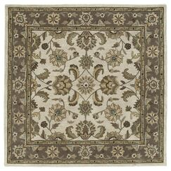 Quance Linen Area Rug Rug Size: Square 9'9