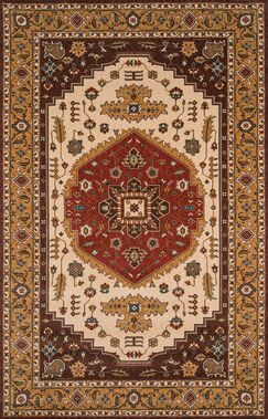 Forrestal Cocoa/Red Area Rug Rug Size: Rectangle 9'6
