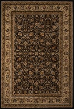 Mira Monte Black/Brown Area Rug Rug Size: Rectangle 2' x 3'3