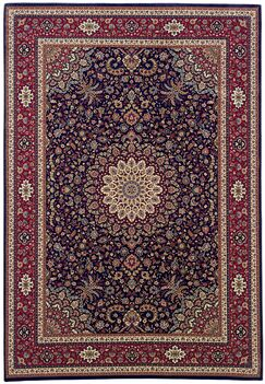 Shelburne Traditional Brown/Red Area Rug Rug Size: Rectangle 5'3