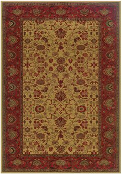 Cipriani Tabriz/Harvest Gold Area Rug Rug Size: Rectangle 3'11
