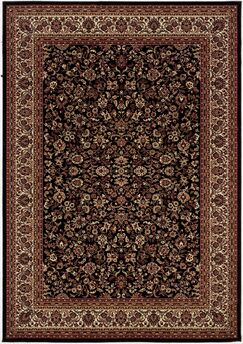 Cipriani Isfahan Black/Brown Area Rug Rug Size: Rectangle 5'3