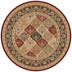 Clarence Red/Beige Area Rug Rug Size: 5'3'' Round