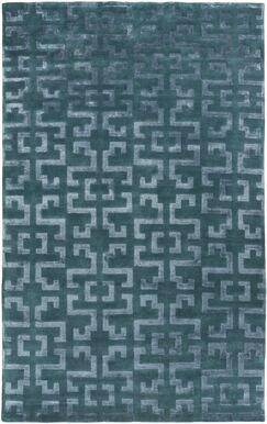 Bart Teal/Gray Geometric Area Rug Rug Size: Rectangle 5' x 8'