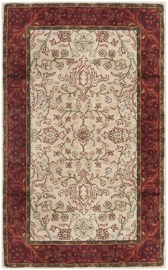 Griswold Hand-Tufted Ivory / Rust Area Rug Rug Size: Rectangle 2' x 3'