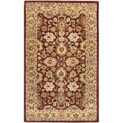 Empress Red/Yellow Area Rug Rug Size: Rectangle 4' x 6'