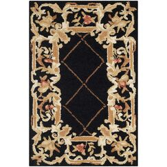 Weaver Black / Miranda Area Rug Rug Size: Rectangle 8'9