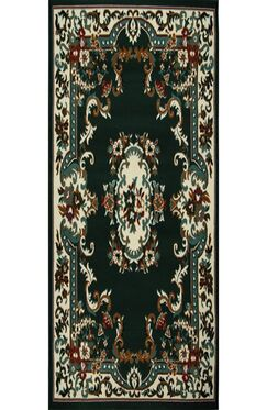 Lilly Hunter Green Area Rug Rug Size: Runner 1'9