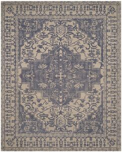Mahoney Ivory and Turquoise Area Rug Rug Size: Rectangle 10' x 14'