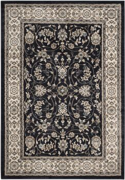 Taufner Anthracite/Cream Area Rug Rug Size: Rectangle 8' x 10'