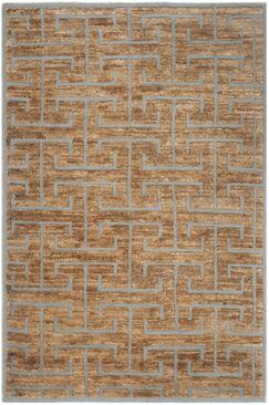 Elise Hand-Woven Grey/Beige Area Rug Rug Size: Rectangle 6' x 9'
