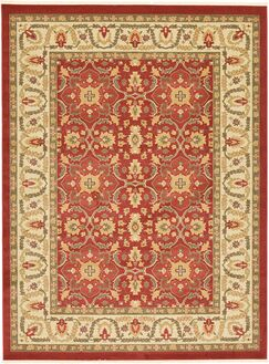 Willow Red Area Rug Rug Size: Round 6'
